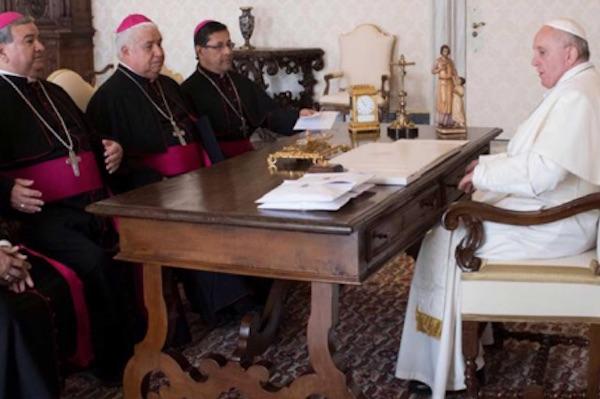 Audiencia Privada en el Vaticano con  algunos miembros del Consejo de Presidencia de la Conferencia del Episcopado Mexicano. Foto: CEM