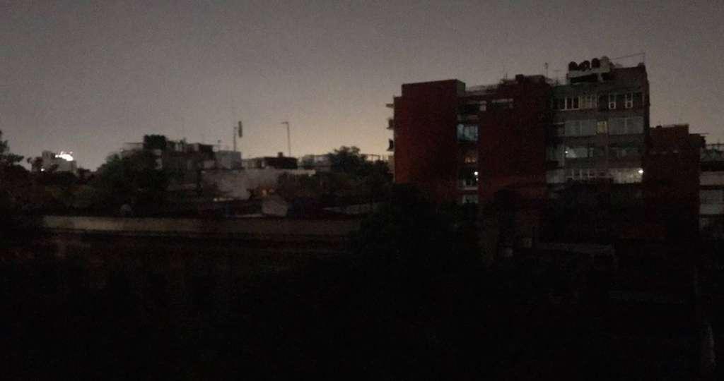 La CFE refirió que a las 20:20 horas se presentaron afectaciones del suministro eléctrico. Foto: Especial
