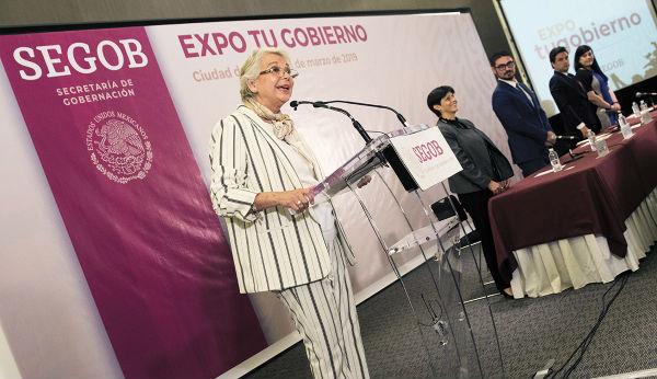 RESPUESTA. Olga Sánchez Cordero respondió a observaciones hechas por la Iglesia católica. Foto: Cuartoscuro