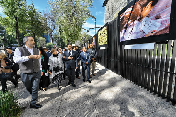 INICIATIVA. La muestra fue organizada por la Presidencia de la Mesa Directiva y las comisiones de Cultura y de Seguridad Pública. Foto Víctor Gahbler