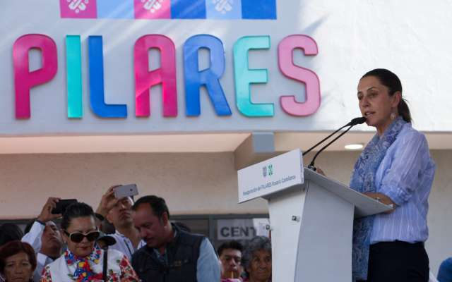 Sheinbaum entrega Pilar en Tláhuac