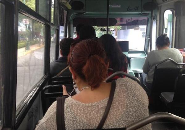 A diario, 150 mil mujeres potosinas diariamente usan el transporte público para trasladarse. Foto: Foto: @JoCazador