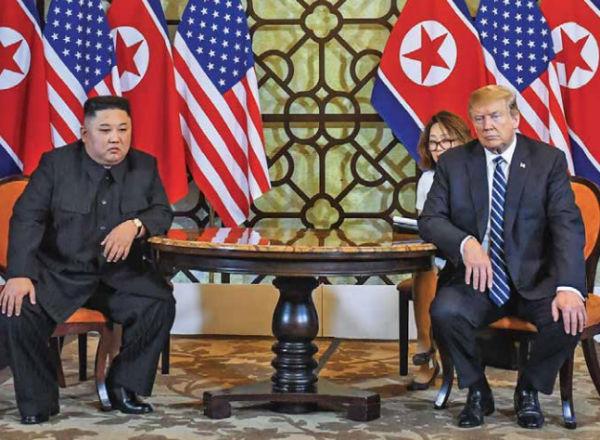 La cumbre entre Kim Jong-Un y Trump terminó abruptamente sin acuerdos. FOTO: AFP