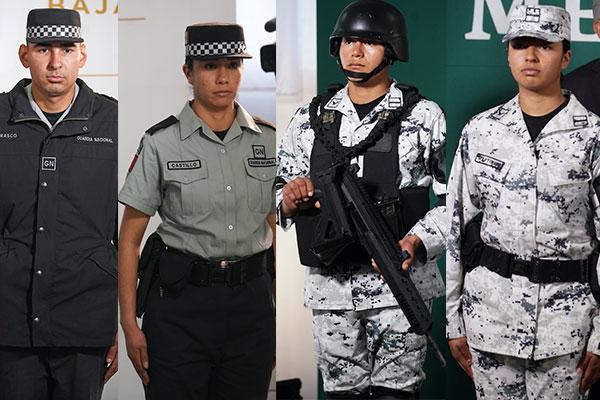 Estos atuendos para los elementos de seguridad tendrán dos variantes: para militares y de proximidad. Foto: El Heraldo de México