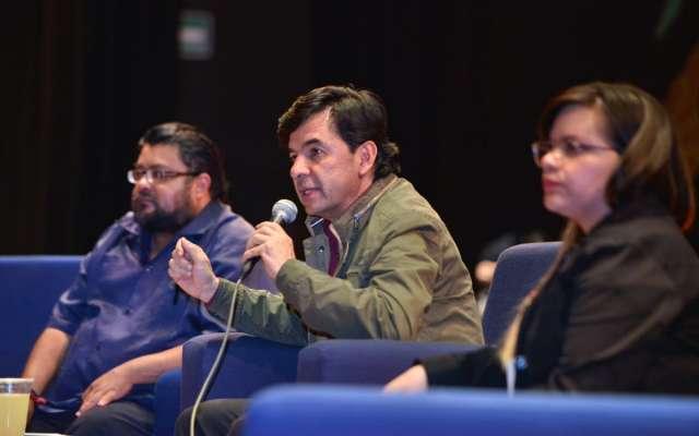 Jesús Ramírez en una charla sobre periodismo