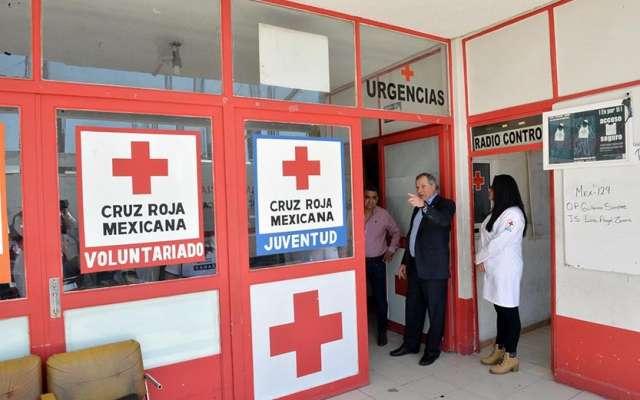 Jorge Alberto Forastieri, delegado de la Cruz Roja en el Estado de México, visitó las instalaciones. Foto: Especial
