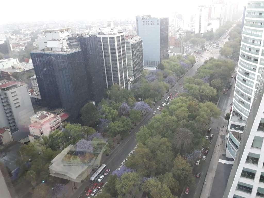 La Ciudad de México amaneció parcialmente nublada este viernes. Foto: Olivia Vázquez