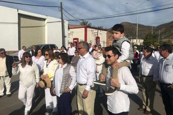 El hijo del candidato presidencial en 1994 agradeció a los políticos de todos los partidos no haber asistido a la caminata familiar. Foto: Especial