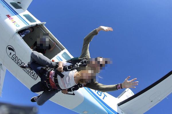 Imagen de práctica de paracaidismo.  Foto: Club Albatroz