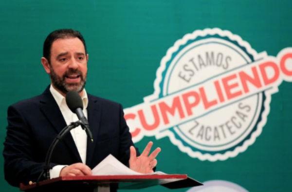 El gobernador de Zacatecas, Alejandro Tello.FOTO: ESPECIAL