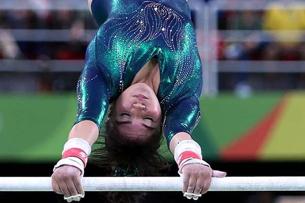 Alexa Moreno Medina en competencias internacionales de gimnasia. FOTO: NOTIMEX