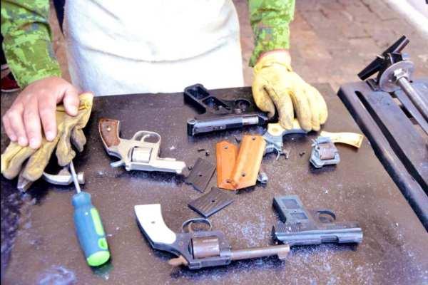 Coyoacán fue la alcaldía con más armas recuperadas. Foto:@Claudiashein