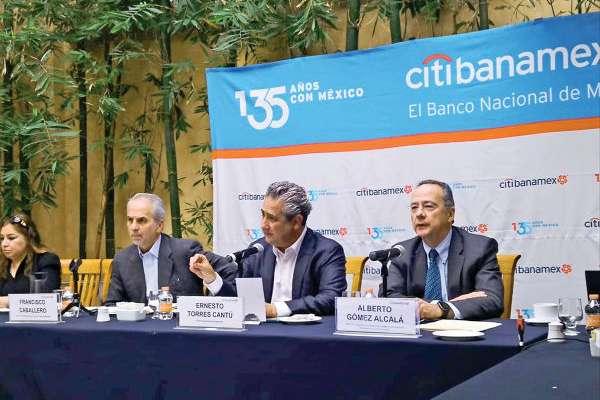 AVANCE. El director de Citibanamex, Ernesto Torres Cantú, dijo que no hay limitantes para el crédito. Foto: Nancy Balderas