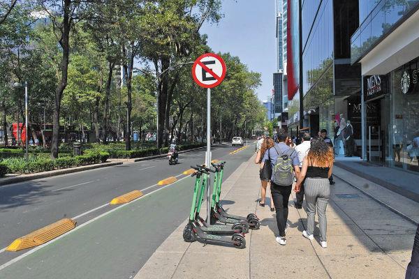 MAREA VERDE. La empresa de scooters Grin es la que más unidades tiene en la ciudad. Foto: Pablo Salazar