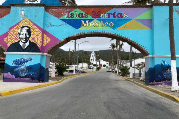 """Islas Marías, ahora es el Centro de Educación Ambiental y Cultural Muros de Agua """"José Revueltas""""."""