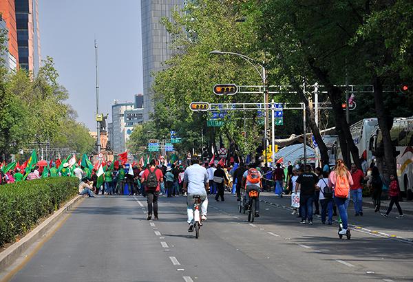 Manifestación afecta circulación en Paseo de la Reforma. FOTO: ARCHIVO/ NOTIMEX