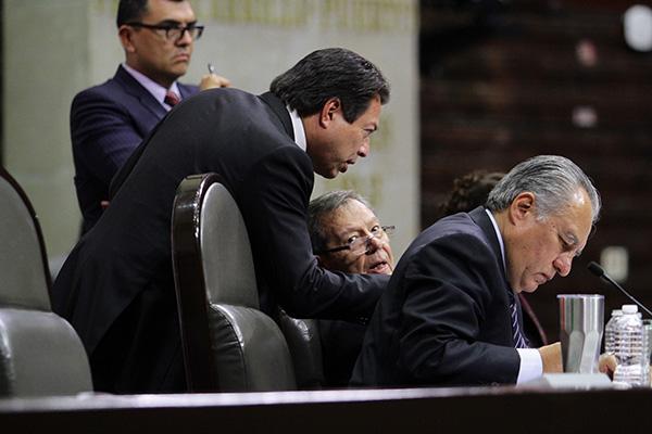 Mario Delgado, coordinador del grupo de Morena en la Cámara de Diputados. FOTO: NOTIMEX