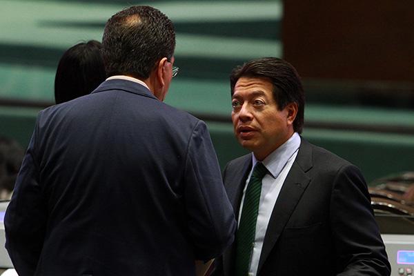 El jefe de la bancada de Morena en la Cámara de Diputados, Mario Delgado. FOTO: NOTIMEX