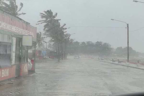Ida provocará fuertes vientos y lluvias enprovincias mozambiqueñas hasta el domingo. Foto:@StormReportSA1