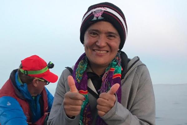 Nora Toledano ha completo el serial de los siete mares. FOTO: ESPECIAL