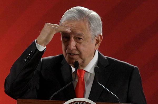 Andrés Manuel López Obrador en conferencia de prensa desde Palacio Nacional. FOTO: CUARTOSCURO
