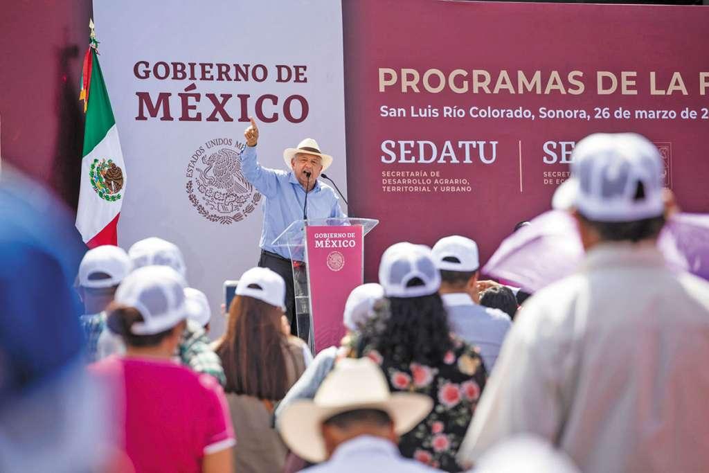 Desde Sonora, el Presidente aseguró que favorecerán al desarrollo de esta entidad. FOTO: ESPECIAL