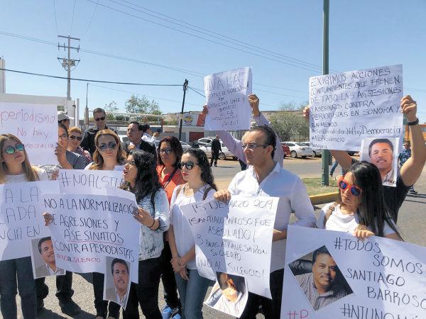 Este es el cuarto asesinato de periodistas en lo que va del año. FOTOS: ANA LIMA, KAREN BRAVO Y MARTHA DE LA TORRE