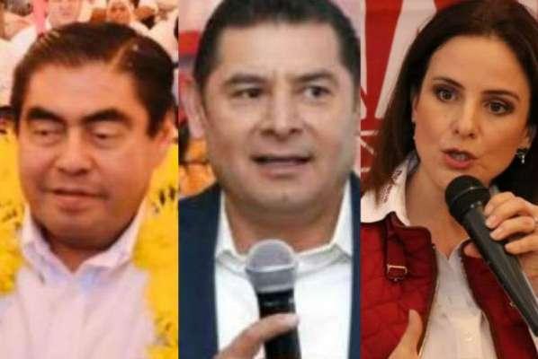 Alejandro Armenta criticó a Barbosa por promover una reconciliación; Nancy de la Sierra señaló que el PT hará una encuesta espejo y que no validará un fraude. Foto: Especial