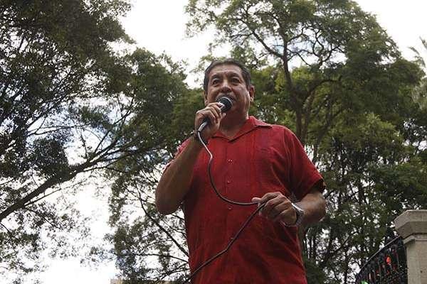 Rubén Núñez, ex dirigente de la Sección 22 de la CNTE en Oaxaca. FOTO: CUARTOSCURO