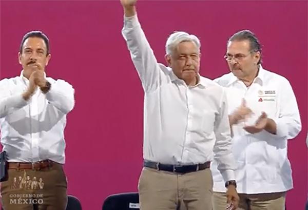 López Obrador encabeza en Tula, evento sobre la Expropiación Petrolera: EN VIVO
