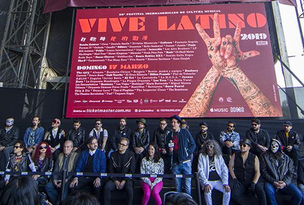 En enero se presentó el cartel del Festival Vive Latino 2019, al evento asistieron algunas bandas que participarán en esta edición. FOTO: NOTIMEX