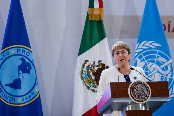 Para Bachelet, este acuerdo contempla más que la ayuda en la capacitación de los elementos de los más de 50 mil elementos que habrán de conformar la Guardia Nacional