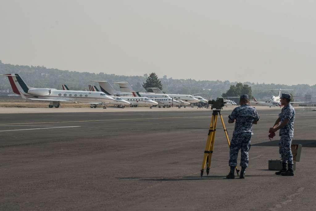 Base Aérea Número de Santa Lucía en Zumpango, Estado de México.