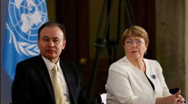 Bachelet y Durazo intercambiaron puntos de vista en el evento.FOTO: ESPECIAL