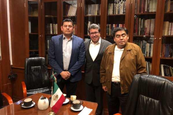 Barbosa dio a conocer la reunión a través de su cuenta de Twitter. Foto: @MBarbosaMX