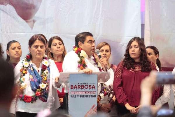 Mitín Barbosa y familia