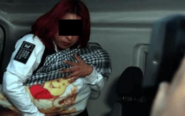 La menor fue trasladada por agentes de la SSC de Nezahualcóyotl. FOTO:ESPECIAL
