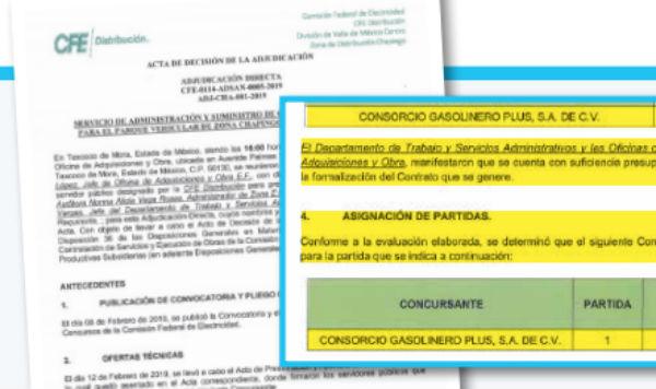 La CFE otorgó tres contratos al Consorcio Gasolinero Plus, empresa de Grupo Hidrosina, para el suministro de combustible de los vehículos de la empresa. FOTO: ESPECIAL