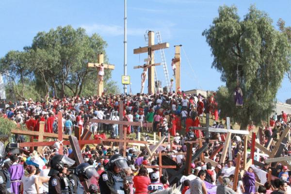 Se mantiene seguridad en toda la Ciudad de México y alcaldías donde se realizan otras representaciones y procesiones. FOTO: ESPECIAL