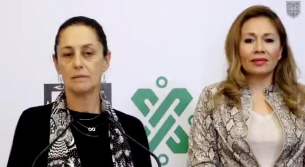 María Luisa Albores González asistió a una conferencia con Claudia Sheinbaum. FOTO: ESPECIAL
