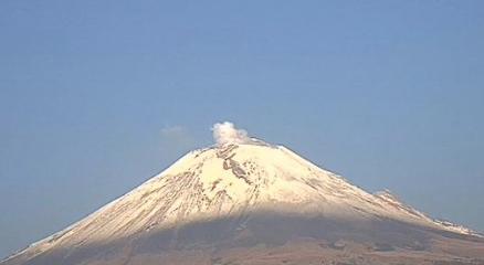 La Coordinación Nacional de Protección Civil informó que el Popocatépetl ha emitido 23 exhalaciones, 179 minutos de tremor y 1 sismo volcanotectónico.