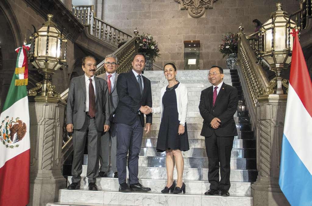 Sheinbaum recibió a Xavier Bettel, primer ministro del Ducado de Luxemburgo. FOTO:CUARTOSCURO