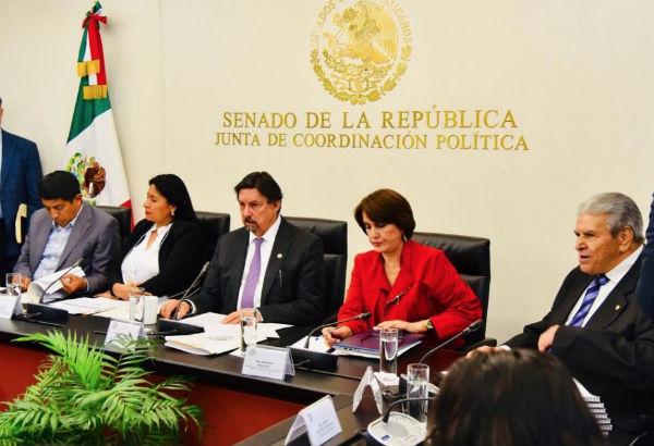 Los integrantes de las Comisiones Unidas de Trabajo y Previsión Social y de Estudios Legislativos Segunda, aprobaron en lo general el dictamen. FOTO: ESPECIAL