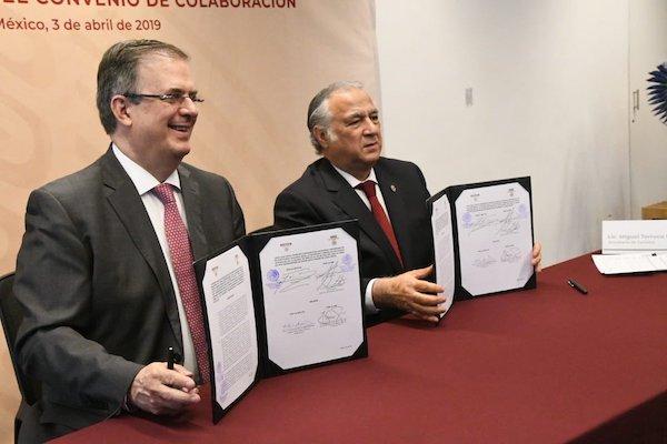 La capacitación hará uso de la infraestructura ya existente, detallaron Marcelo Ebrard y Miguel Torruco. Foto: @SRE_mx