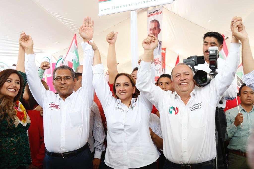 La presidenta del CEN del PRI, visitóPuebla apara apoyar a su aspirante al gobierno del estado. Foto: @ruizmassieu