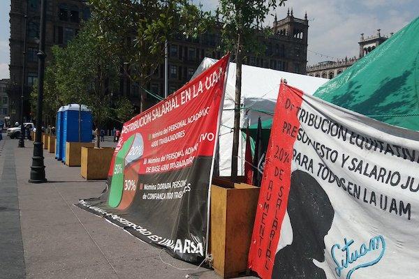 La universidad lleva 75 días en huelga; sindicato exige mejores condiciones laborales. Foto: Twitter