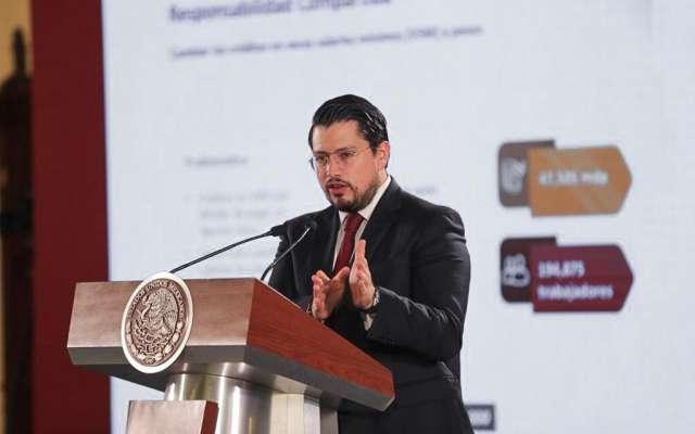 El director del Ïnfonavit, Carlos Martínez, detalló que ya han devuelto automáticamente 246.5 millones de pesos a 282 mil pensionados. Foto: @Infonavit