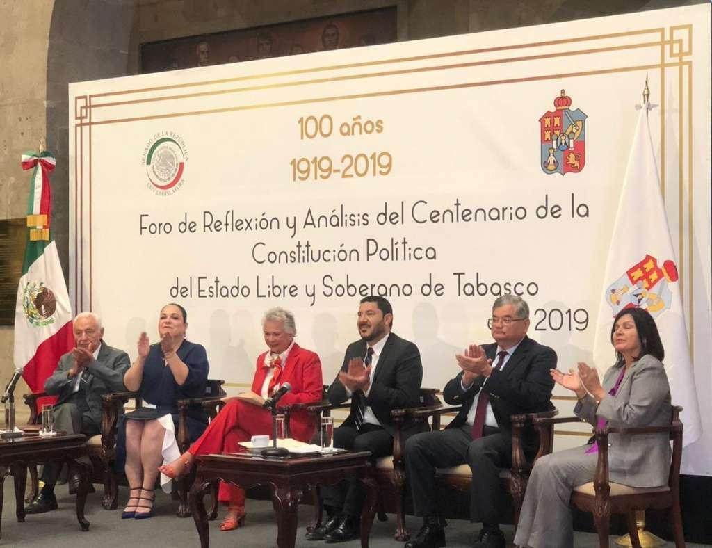 En 100 años, a la Carta Magna de Tabasco se le han practicado 90 decretos de reforma. Foto: @M_OlgaSCordero