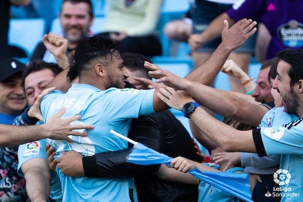 Iago Astas y Sofiane Boufal fueron los autores de los dos goles. Foto: LaLiga