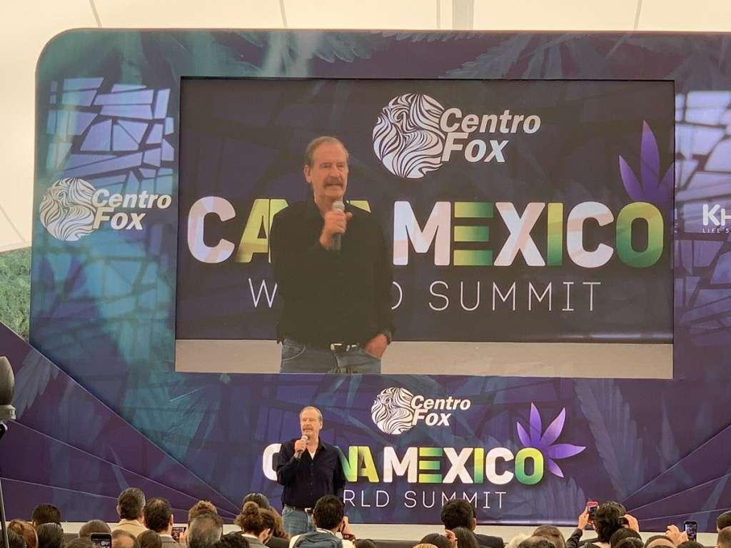 El expresidente participó en el Foro Global de Cannabis en México, realizado en el Centro Fox. Foto: @CannaMexico